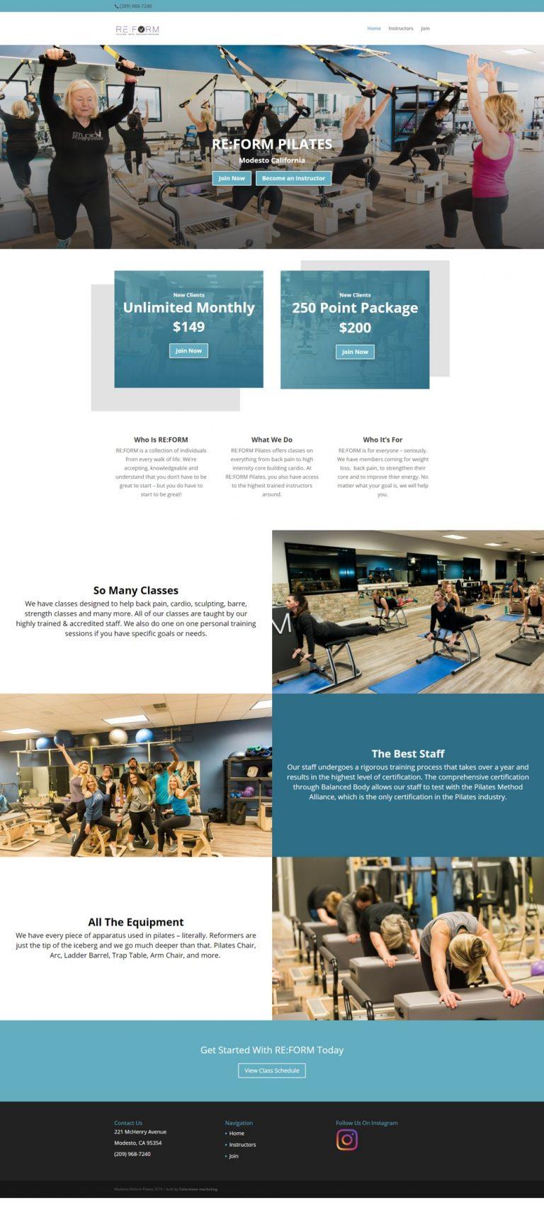 Modesto reform home page