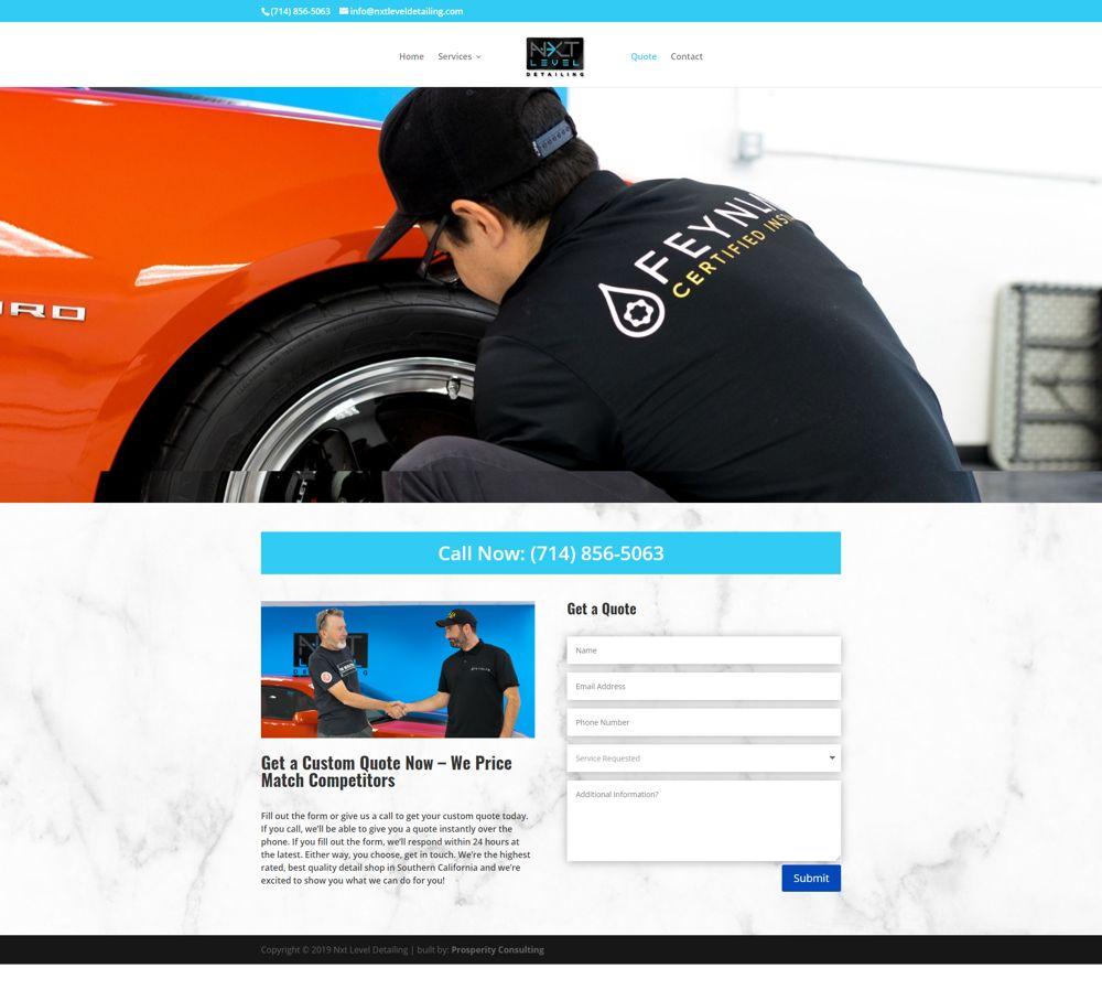 auto company contact page