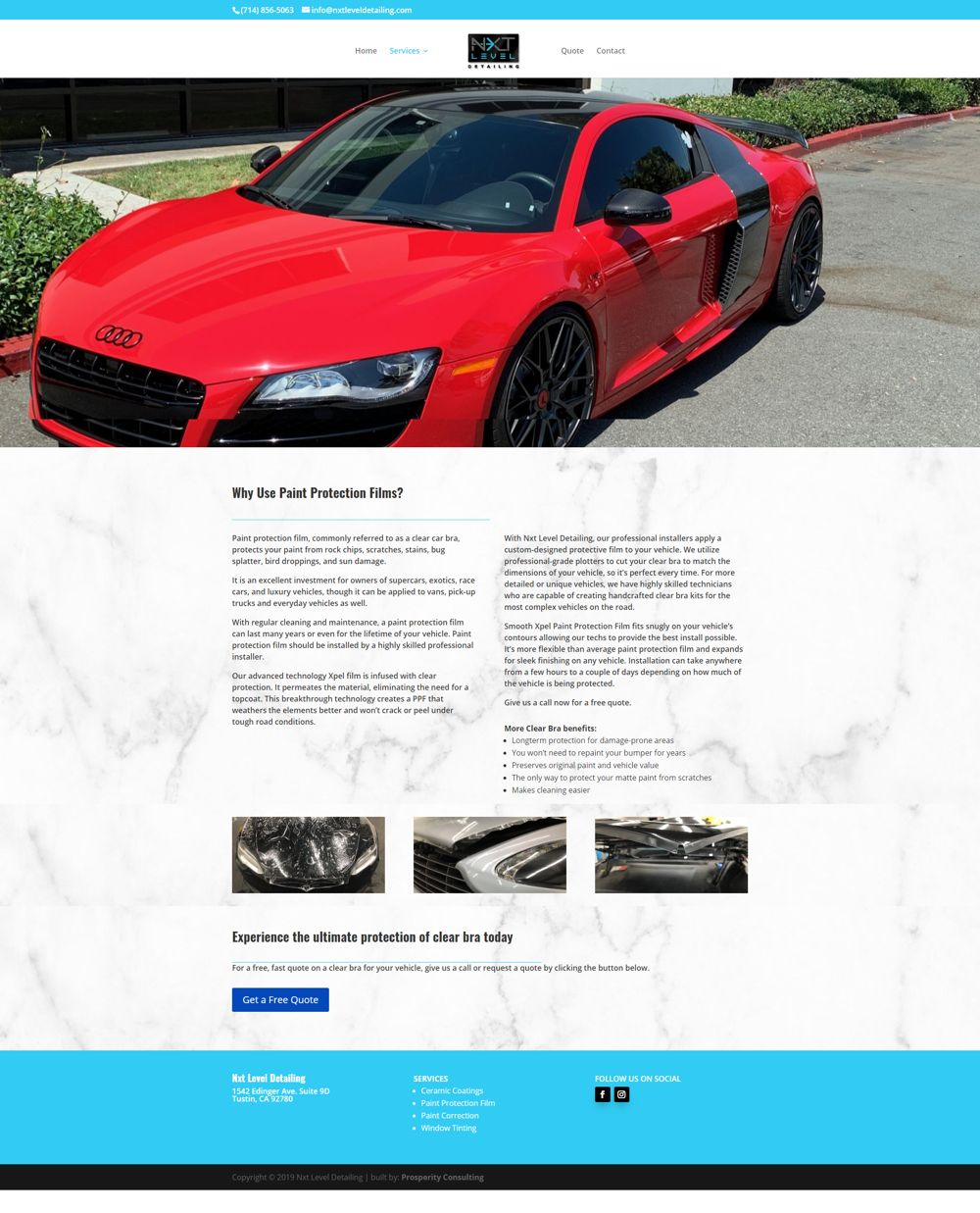 auto company marketing service page two