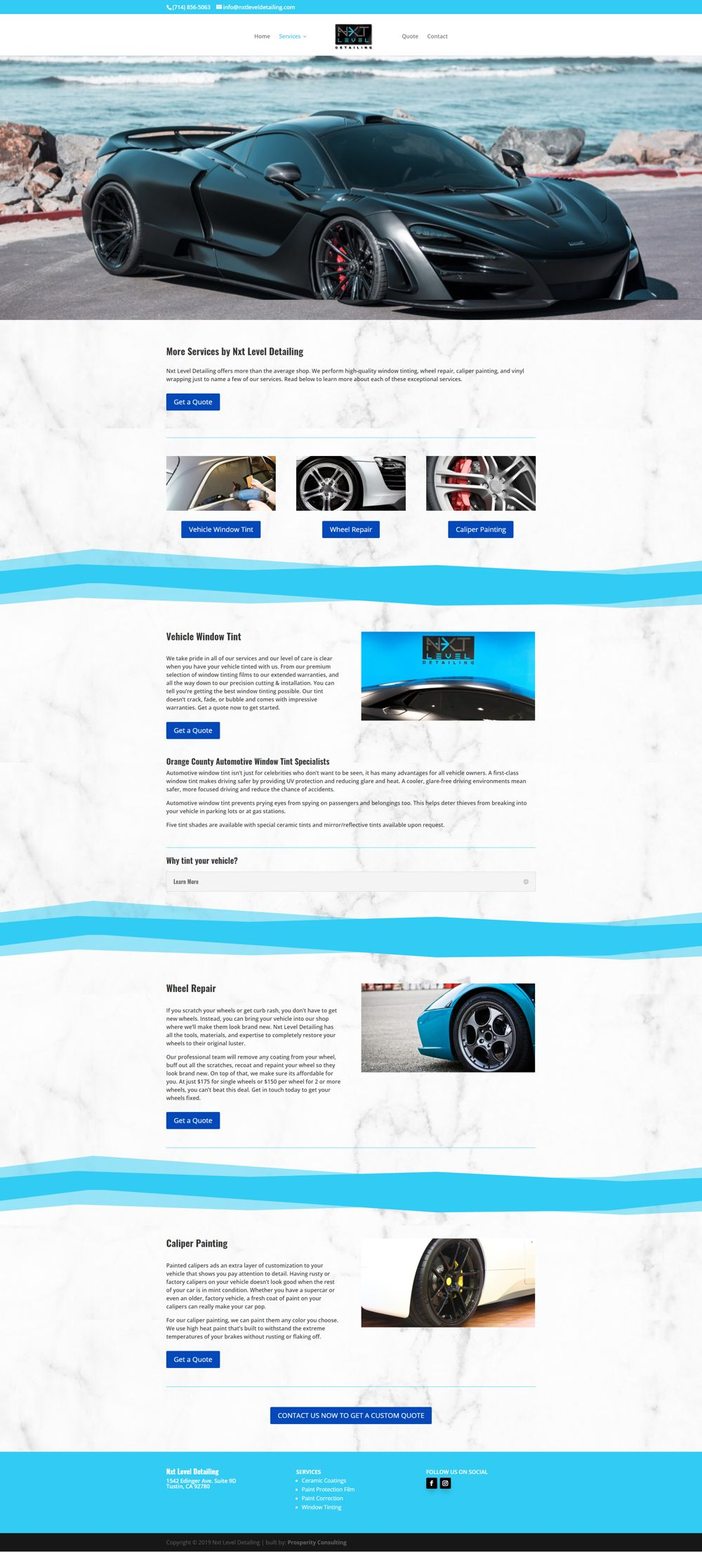 auto company marketing service page