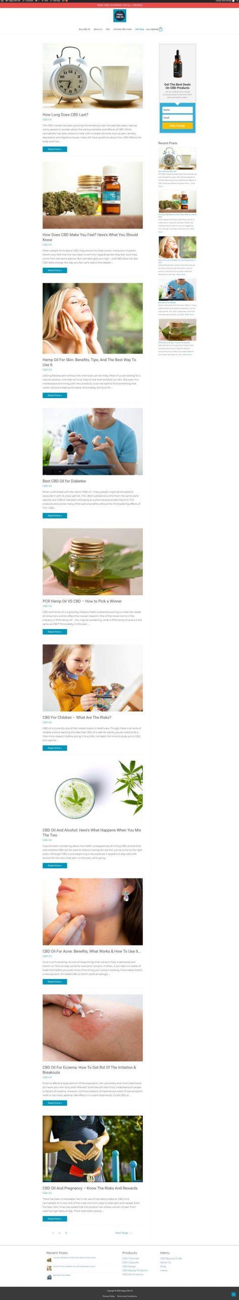 cbd blog page